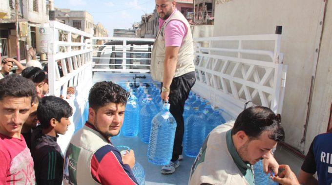 (المياه المعدنية المعبأة) أكثر سلعة رائجة في الموصل بعد الحرب