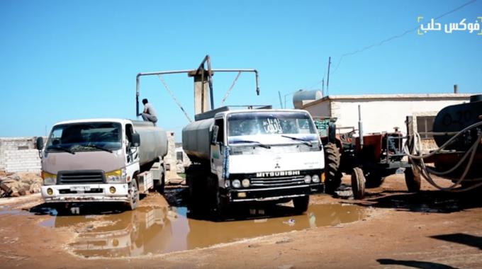 مناهل مياه الشرب في المخيمات